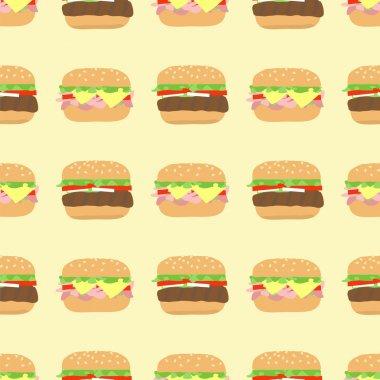 pattern hamburger cheeseburger