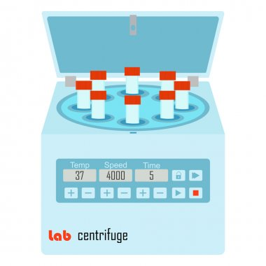 Lab centrifuge with vacutainer