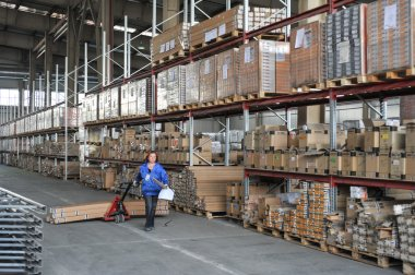 Warehouse Storage of building materials