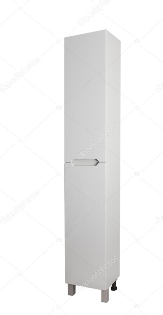 Smalle hoge kast voor het opslaan van toiletartikelen items in de ...