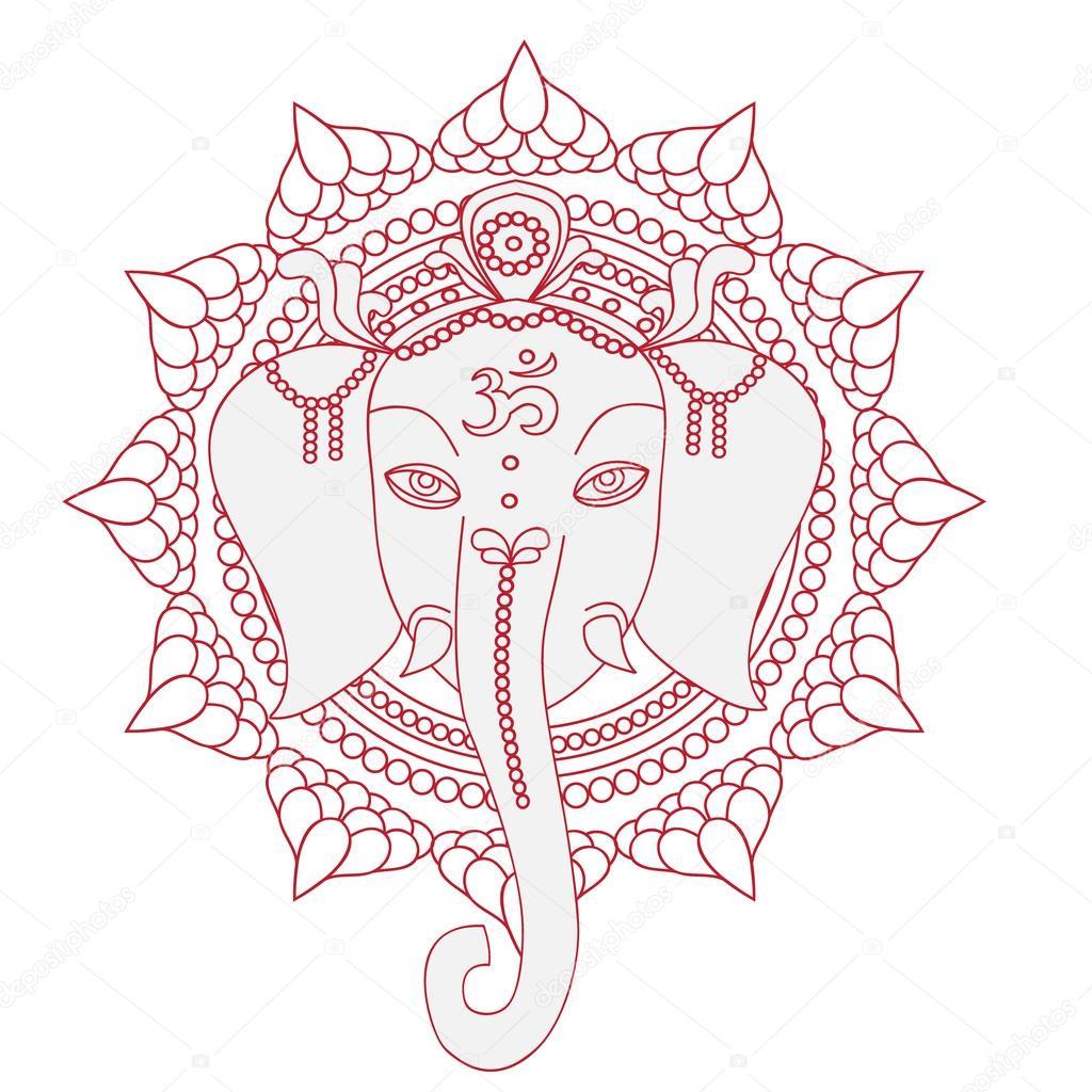 depositphotos stock illustration greeting beautiful card with elephant