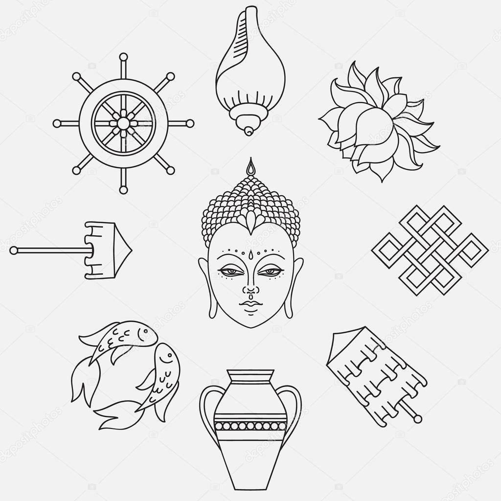 Buddhist symbolism the 8 auspicious symbols of buddhism right buddhist symbolism the 8 auspicious symbols of buddhism right coiled white conch precious umbrella victory banner golden fish dharma wheel auspicious biocorpaavc Gallery
