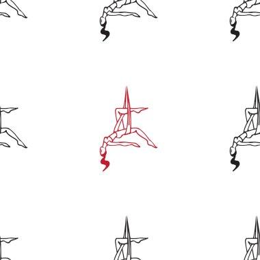anti-gravity yoga vector