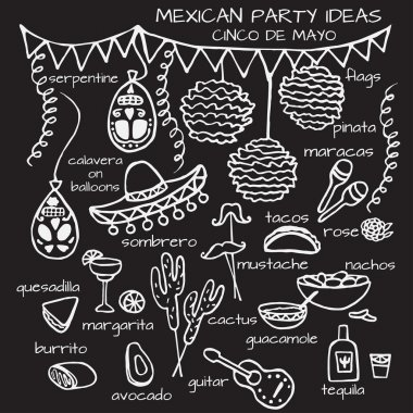 Mexican party ideas, cinco de mayo elements