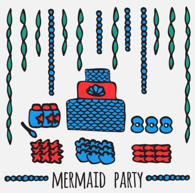 mermaid party elements, underwater kids party ideas,
