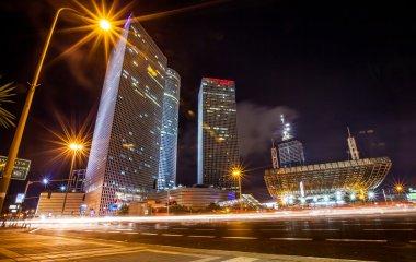 Tel Aviv skyline night view
