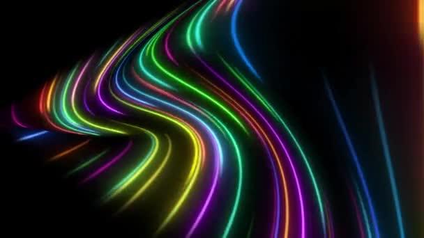 Neonová světla, barevné čáry koncepce pozadí.