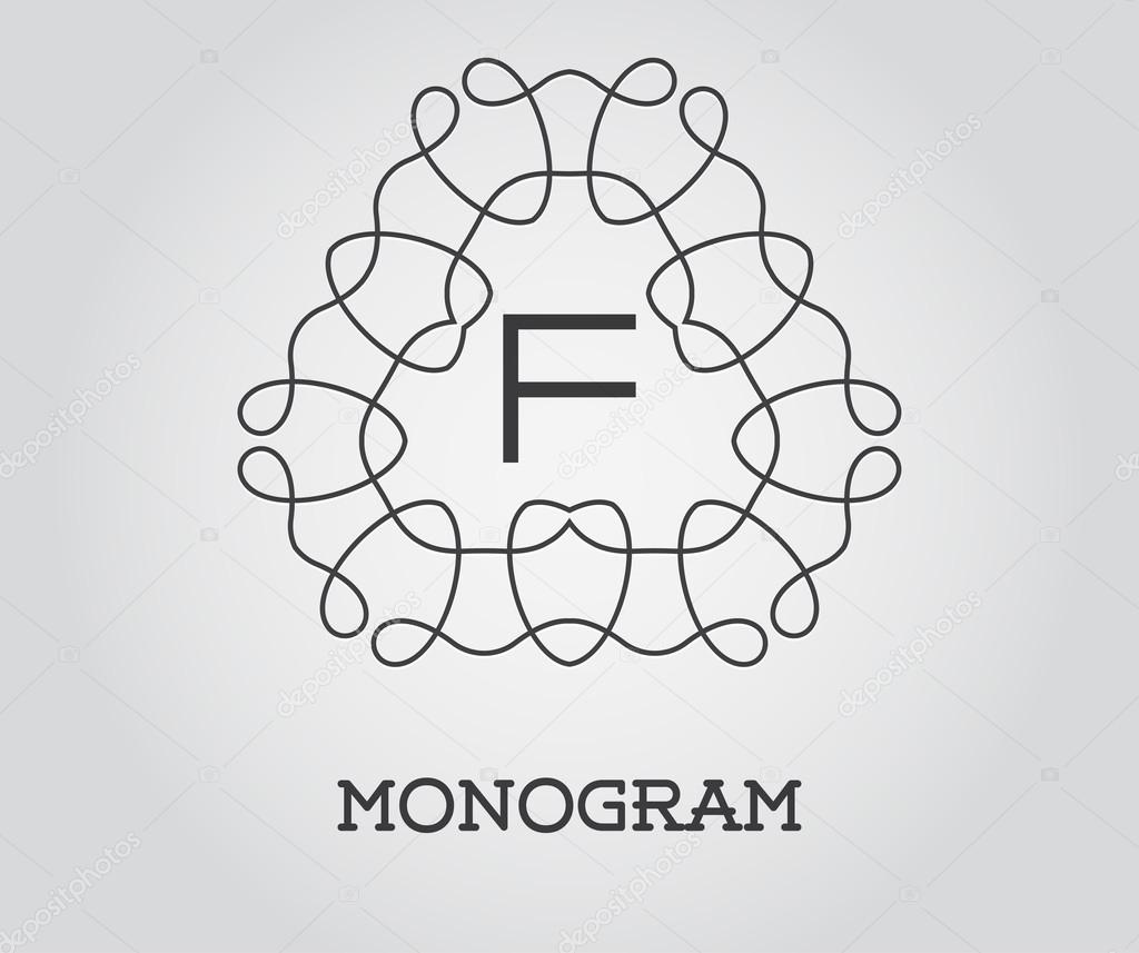 Elegante Monogramm Vorlage — Stockvektor © ckybe #109921448
