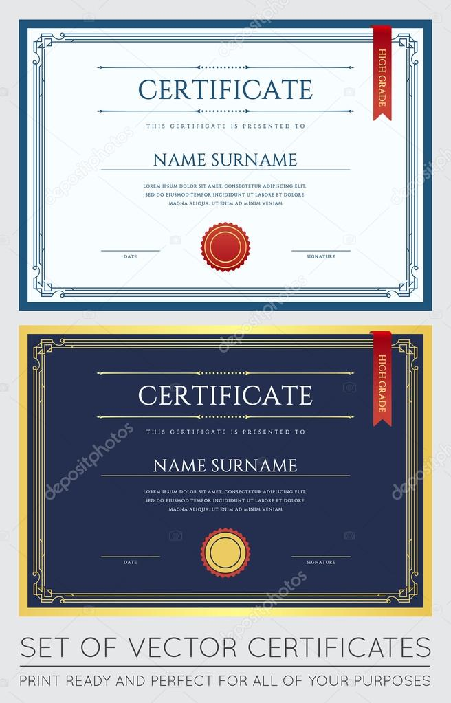 Graduation Diploma Template — Stock Vector © ckybe #109923668