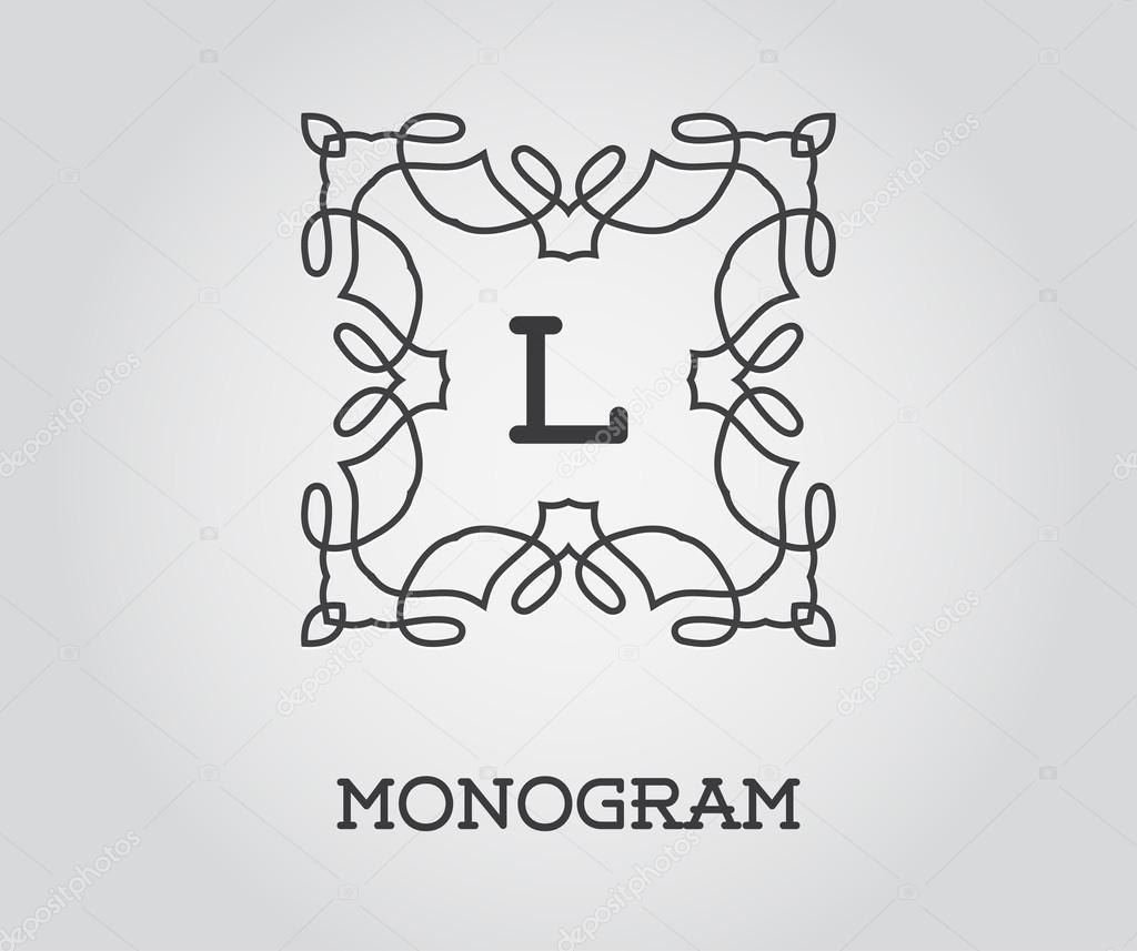 Elegante Monogramm Vorlage — Stockvektor © ckybe #109926380