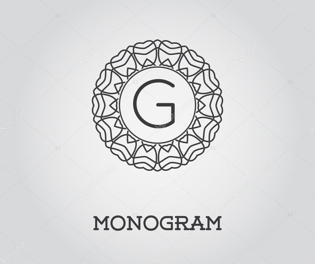 Elegante Monogramm Vorlage — Stockvektor © ckybe #109929020