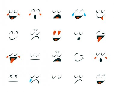 Set of Emoticons Icons