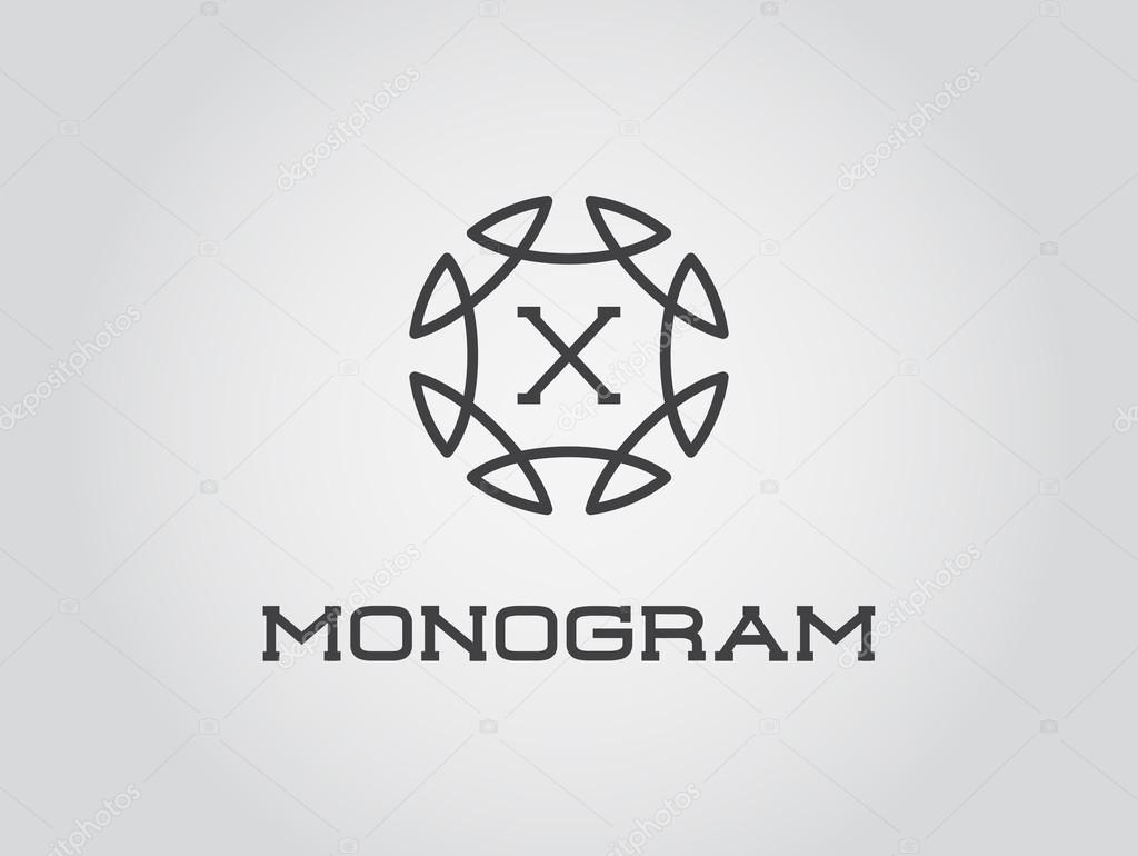 Elegante Monogramm Vorlage — Stockvektor © ckybe #109936238
