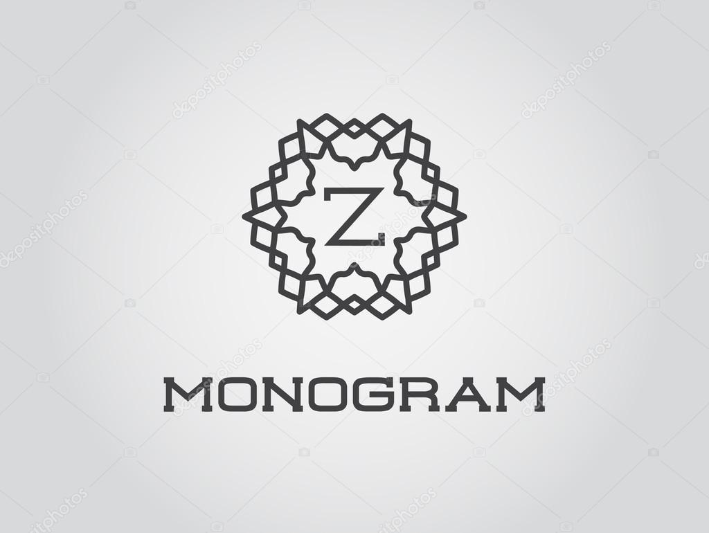 Elegante Monogramm Vorlage — Stockvektor © ckybe #109937718