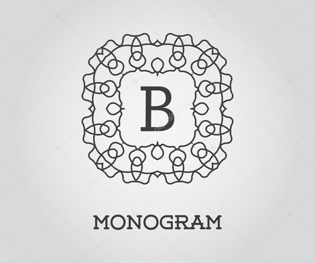 Elegante Monogramm Vorlage — Stockvektor © ckybe #109938930