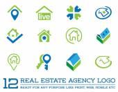 Fotografie Logo šablony pro realitní kancelář