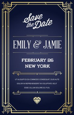 Art Deco and Nouveau Epoch Invite