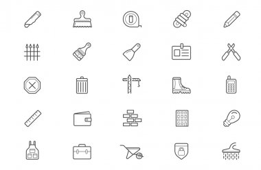 Set of Construction Building Icons