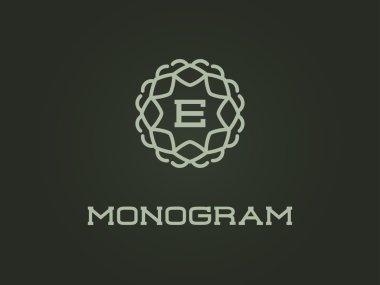 Monogram Design Template with Letter E