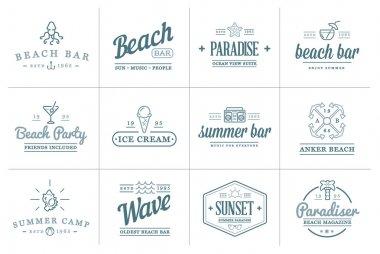 Beach Sea Bar Elements