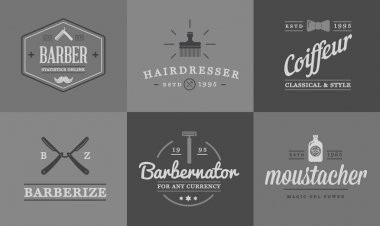 Barber and Shave Shop Elements