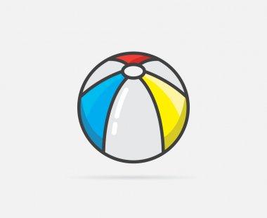 Beach Ball Logo or Icon
