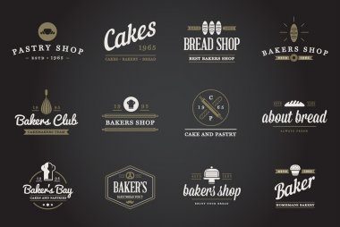 Bakery Pastry Elements and Bread Icons