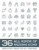 Všechny druhy ikon manželství svatba