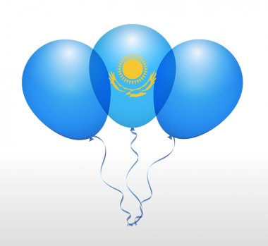 Kazakhstan National Flag Balloons