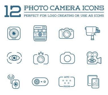 Photo Camera and Video Camera Icons