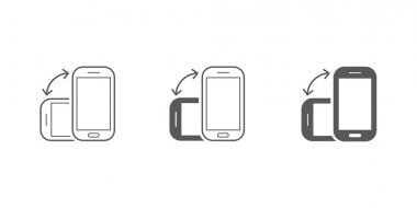Rotate Smartphone or Tablet Icons Set