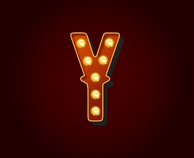 Light bulb Alphabet Letter Y