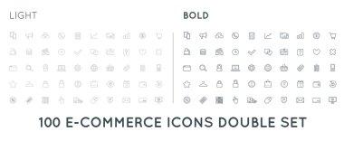 Set of E-Commerce Icons Shopping