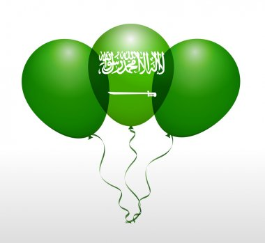 Saudi Arabia National Flag Balloons