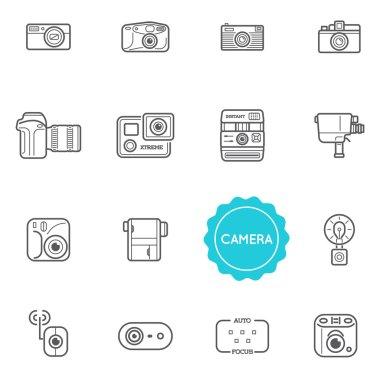 Set of Camera Photo Elements