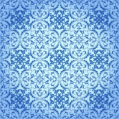 Seamless Damask Background Pattern