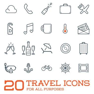 20 Travel Icons Set