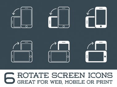 Rotate Smartphone or Tablet Icons