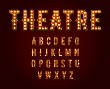 Broadway light bulb Alphabet