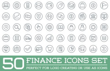 Set of 50 Finance Money Icons