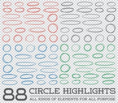 Hand Drawn Circles Rounds Set