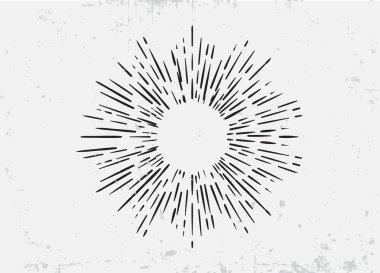 Sunburst Element for Logo Creating