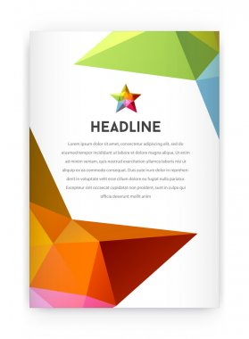 Letterhead and geometric triangular design brochure