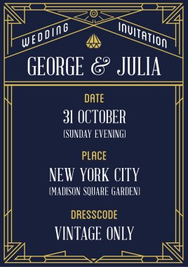 Great Vintage Invitation to Wedding Party