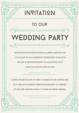 Great Style Invitation to Wedding Party