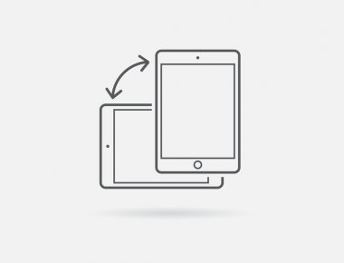 Rotate Smartphone or Tablet Icon