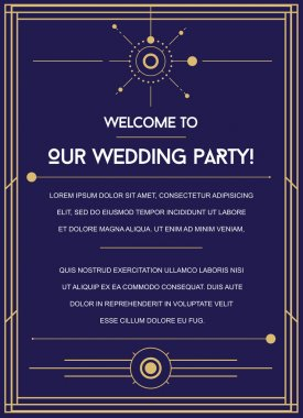 Great Space Inspired Wedding Invitation
