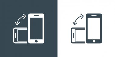 Rotate Smartphone or Cellular Phone Icons