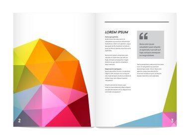 Letterhead and geometric triangular design brochure