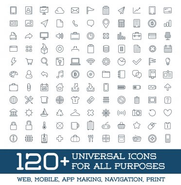 120 Universal Icons Set